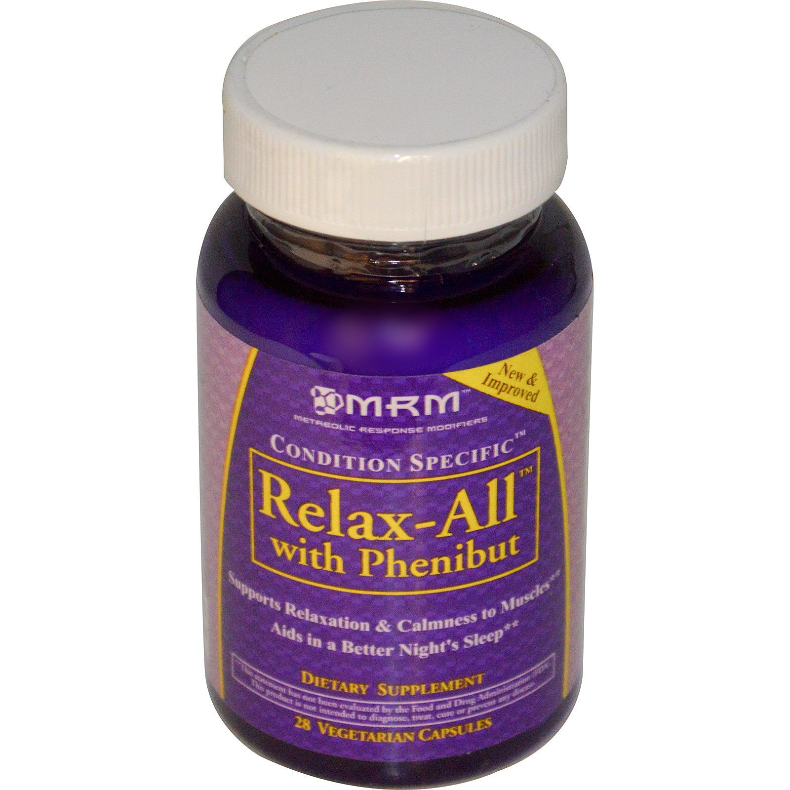 MRM, Relax-All with Phenibut, 28 Veggie Caps - iHerb com