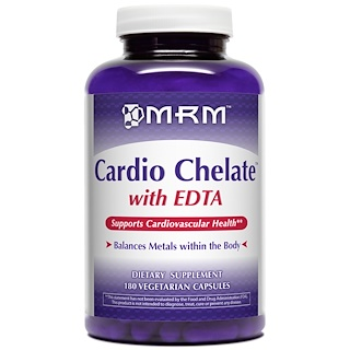 MRM, Cardio Chelate with EDTA, 180 Veggie Caps