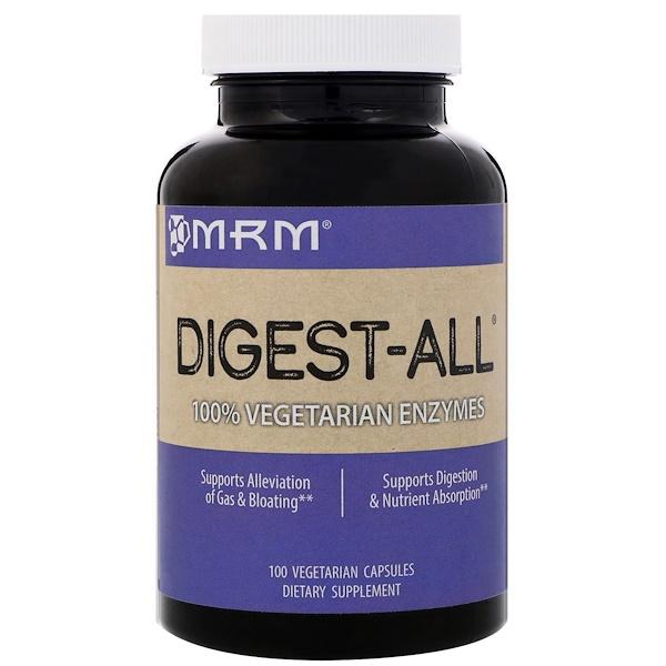 MRM, Digest-All, 100 Vegetarian Capsules