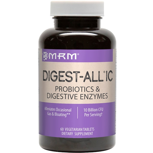 MRM, Digest-All IC, 60 Vegetarian Tablets