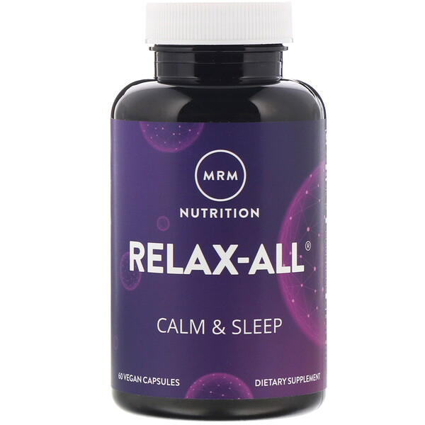 MRM, Relax-All, Calm & Sleep, 60 Vegan Capsules