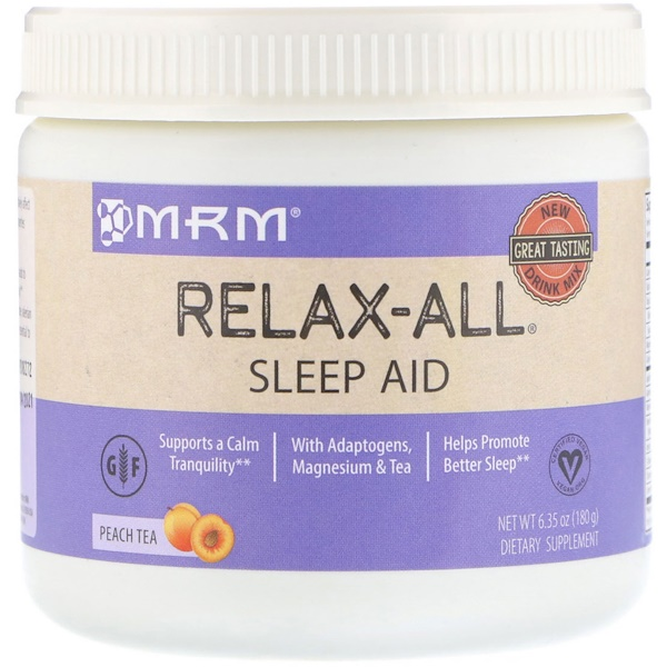 MRM, Relax-All Sleep Aid, Peach Tea, 6、35 (180 g)
