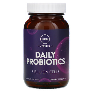 MRM, Nutrition, Daily Probiotics, 5 Billion Cells, 30 Vegan Capsules