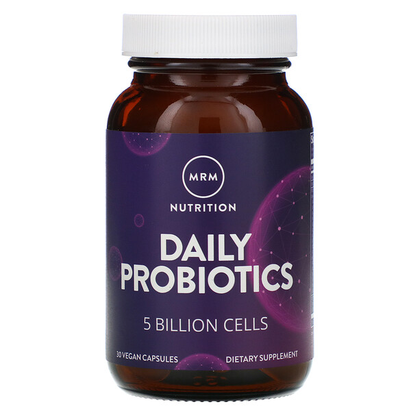 Nutrition, Daily Probiotics, 5 Billion Cells, 30 Vegan Capsules