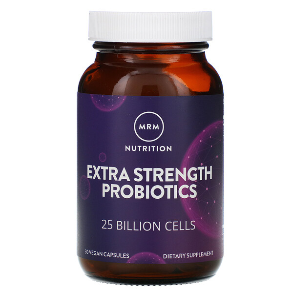 Nutrition, Extra Strength Probiotics, 25 Billion Cells, 30 Vegan Capsules