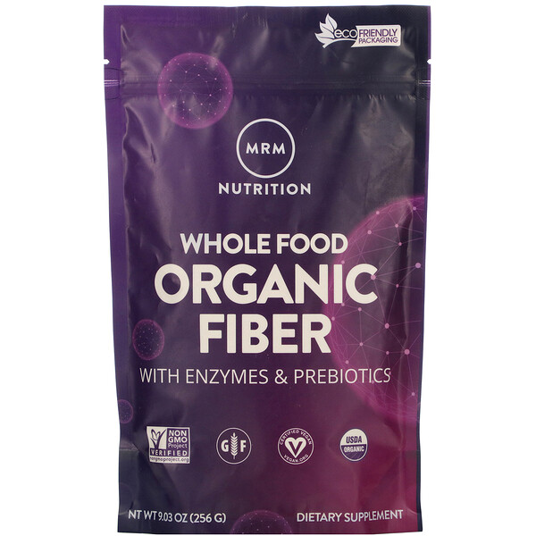 Whole Food, Organic Fiber with Enzymes and Prebiotics, 9.3 oz (256 g)