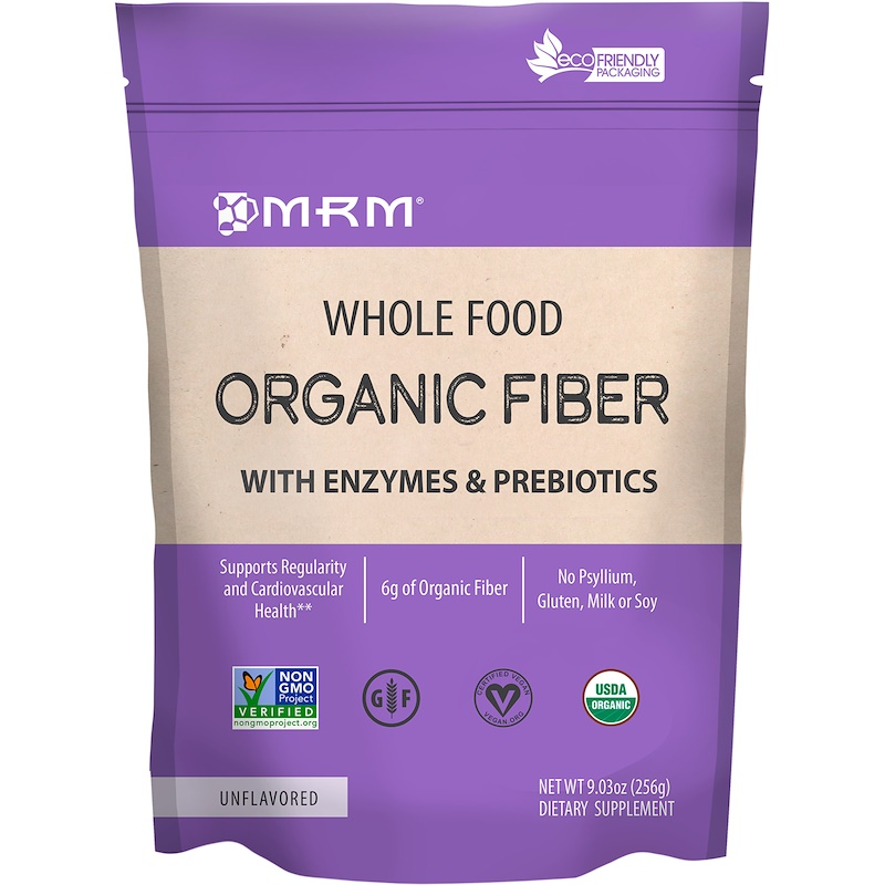 Whole Food, Organic Fiber with Enzymes and Prebiotics, Unflavored, 9.3 oz (256 g)