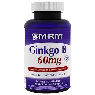 MRM, Ginkgo B, 60 mg, 120 Veggie Caps