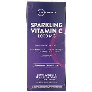 MRM, Sparkling Vitamin C, Strawberry Kiwi, 1,000 mg, 30 Packets, 0.21 oz (6 g) Each