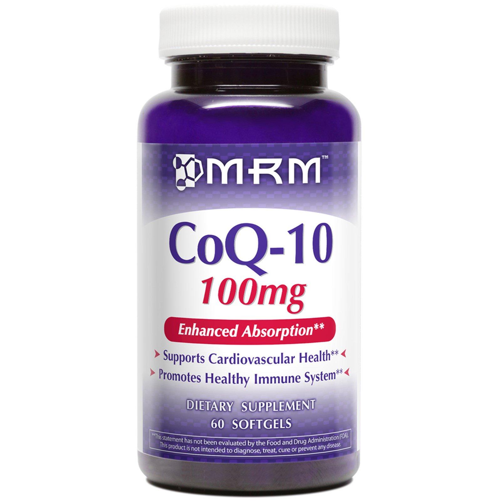 MRM, CoQ-10, 100 мг, 60 гелевых капсул