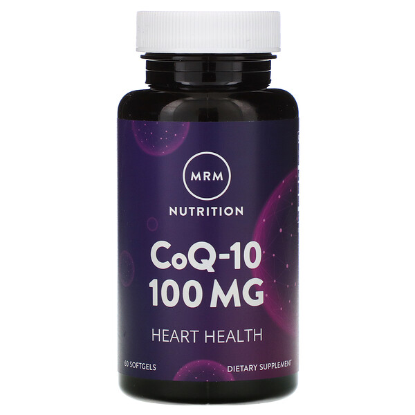 MRM, Nutrition, CoQ-10, 100 mg, 60 Softgels