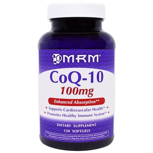 MRM, CoQ-10, 100 mg, 120 Softgels