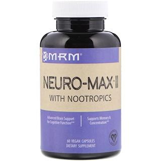MRM, Neuro-Max II, 60 веганских капсул