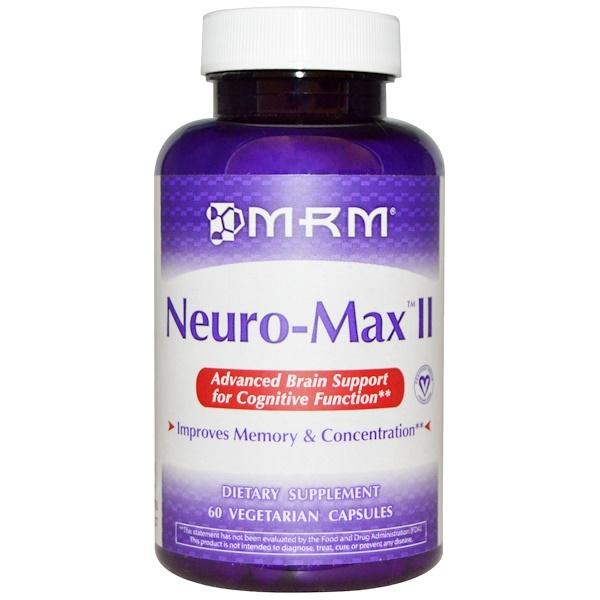 MRM, Neuro-Max II, 60 Veggie Caps