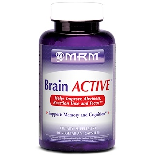 MRM, Brain Active, 90 Vegan Capsules