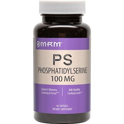 Купить Фосфатидилсерин, 100 мг, 60 капсул