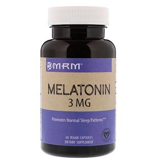 MRM, الميلاتونين، 3 مجم، 60 كبسولة نباتية