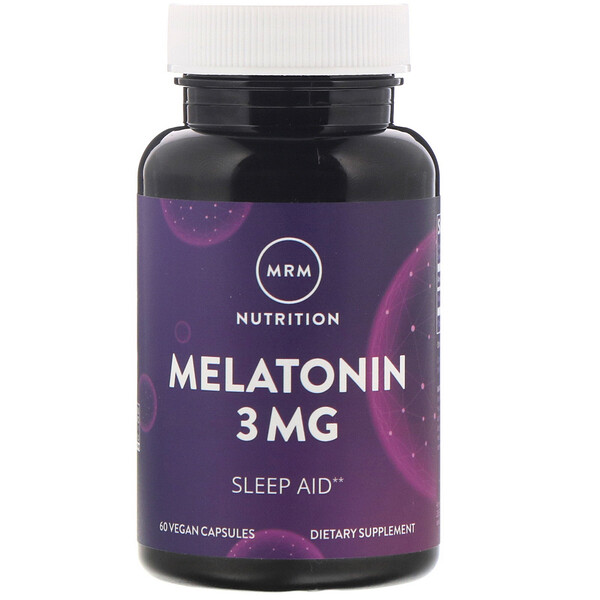 Nutrition, Melatonin, 3 mg, 60 Vegan Capsules