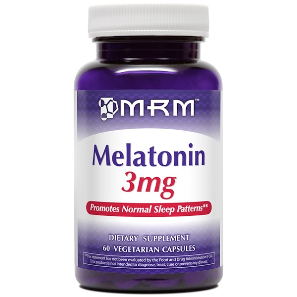 MRM, Melatonin, 3 mg, 60 Veggie Caps