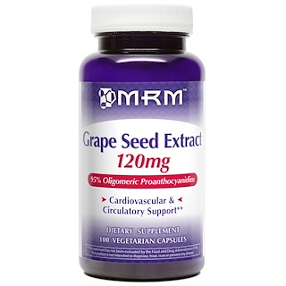 MRM, Grape Seed Extract, 120 mg, 100 Veggie Caps