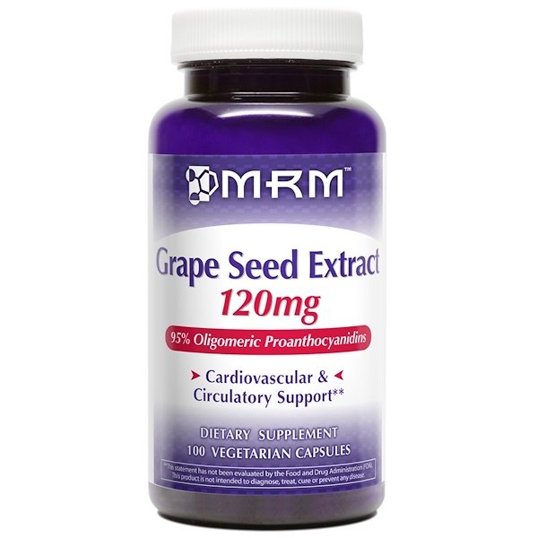 MRM, Grape Seed Extract, 120 mg, 100 Veggie Caps