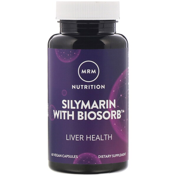 MRM, Nutrition, Silymarin with Biosorb, 60 Vegan Capsules