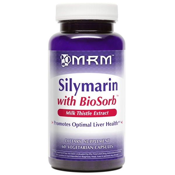 MRM, Silymarin with BioSorb, 60 Veggie Caps