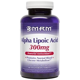 MRM, Alpha Lipoic Acid, 300 mg, 60 Vegan Tablets