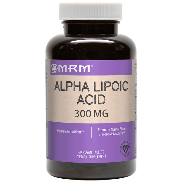 MRM, Alpha Lipoic Acid, 300 mg, 60 Vegan Tablets