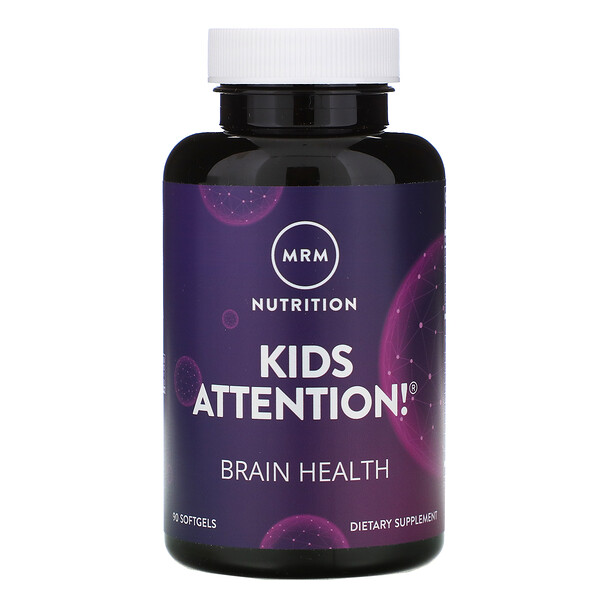 MRM, Kids Attention! Brain Health, 90 Softgels