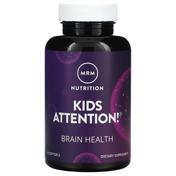 Kids Attention! Brain Health, 90 Softgels
