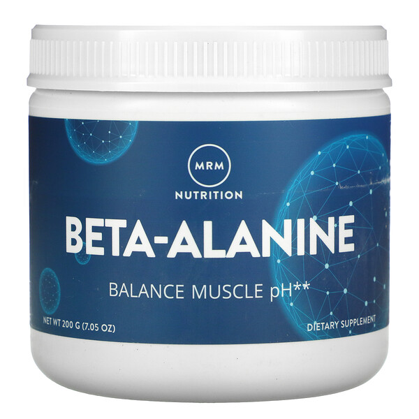 Beta-Alanine, Balance Muscle pH, 7.05 oz (200 g)