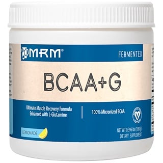 MRM, BCAA+G , со вкусом лимонада, 0,396 фунта (180 г)