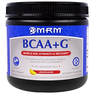 MRM, BCAA+G, Lemonade, 0.396 lbs (180 g)