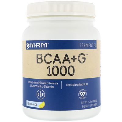 Фото - BCAA + G 1000, со вкусом лимонада, 2,2 фунта (1000 г) myobuild 4x amino bcaa взрывной вкус фруктового пунша 332г 11 71фунта