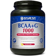 MRM, BCAA + G 1000, 레모네이드, 2.2 파운드 (1000 g)