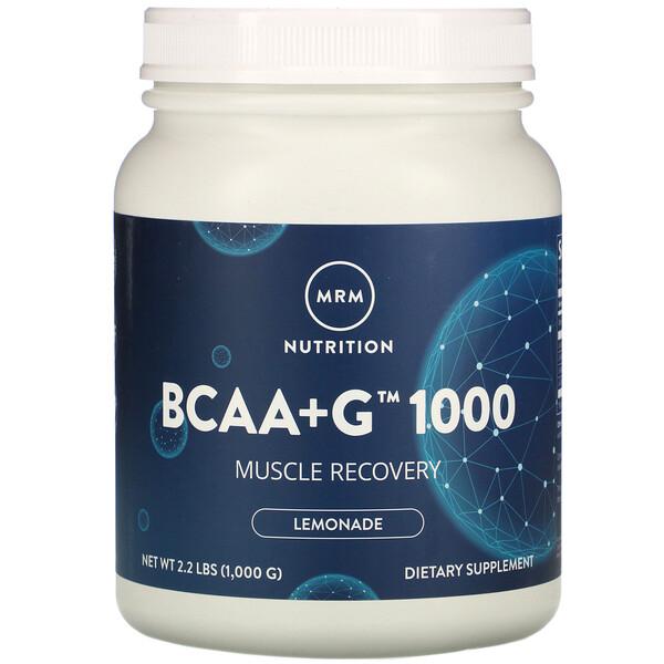 BCAA+G1000、レモネード、1,000g(2.2ポンド)