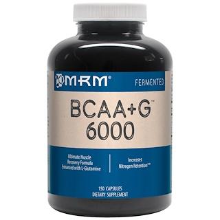 MRM, BCAA + G 6000، 150 كبسولة