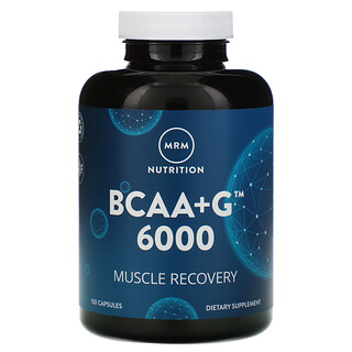 MRM, Nutrition, BCAA+G 6000, 150 Capsules