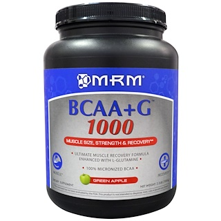 MRM, BCAA + G 1000, Green Apple, 2.2 lbs (1000 g)