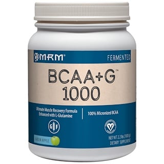 MRM, BCAA+G 1000, Green Apple, 2.2 lbs (1000 g)
