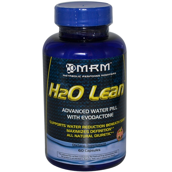 MRM, H2O Lean, Advanced Water Pill with Evodactone, 60 Capsules (Discontinued Item)