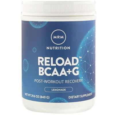 Reload BCAA+G , Post-Workout Recovery, Lemonade, 29.6 oz (840 g)