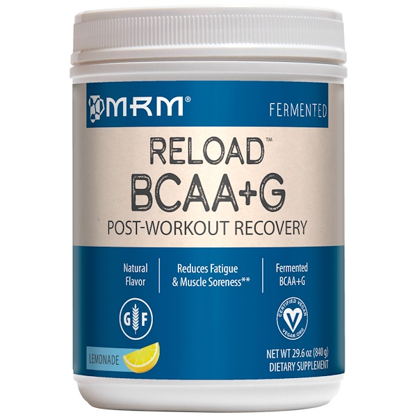 MRM, BCAA + G Reload, Post-Workout Recovery, Lemonade, 29.6 oz (840 g)
