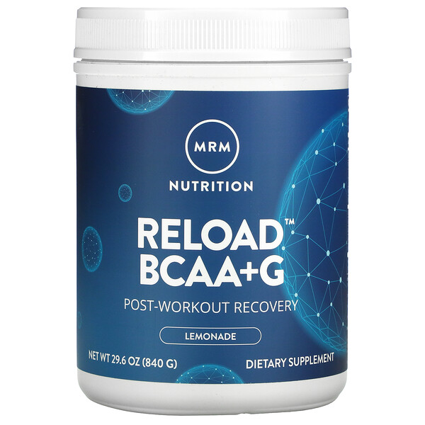 MRM, Reload BCAA + G , Post-Workout Recovery, Lemonade, 29.6 oz (840 g)