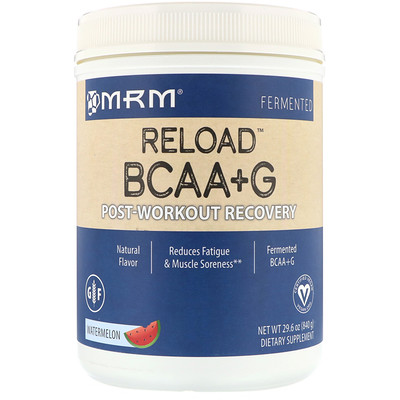 Reload BCAA+G, Post-Workout Recovery, Watermelon, 1.85 lbs (840 g)