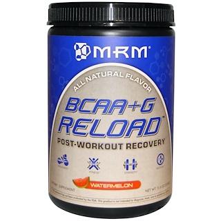 MRM, BCAA + G リロード™, ポスト-ワークアウト・リカバリー, スイカ, 11.6 オンス (330 g)