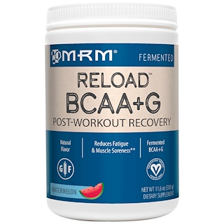 MRM, BCAA+ G Reload, Post-Workout Recovery, Watermelon, 11.6 oz (330 g)