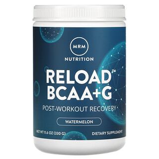 MRM, Reload BCAA+G, Post-Workout Recovery, Watermelon, 11.6 oz (330 g)