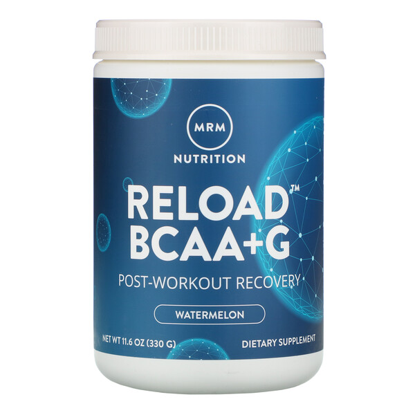Reload BCAA+G, Post-Workout Recovery, Watermelon, 11.6 oz (330 g)